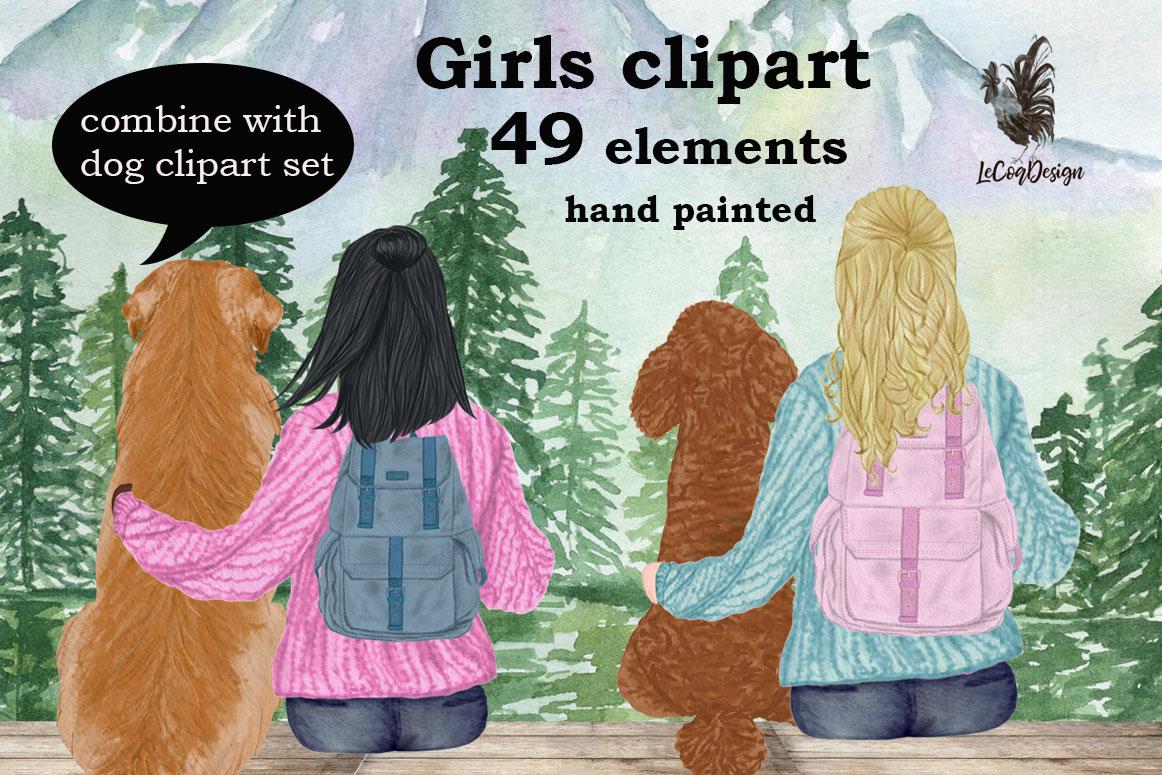 Girls clipart,BEST FRIEND CLIPART,Planner Girls Mug Designs example image 1