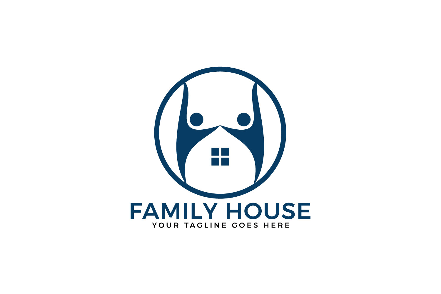 Family House Vector Logo Design. example image 1