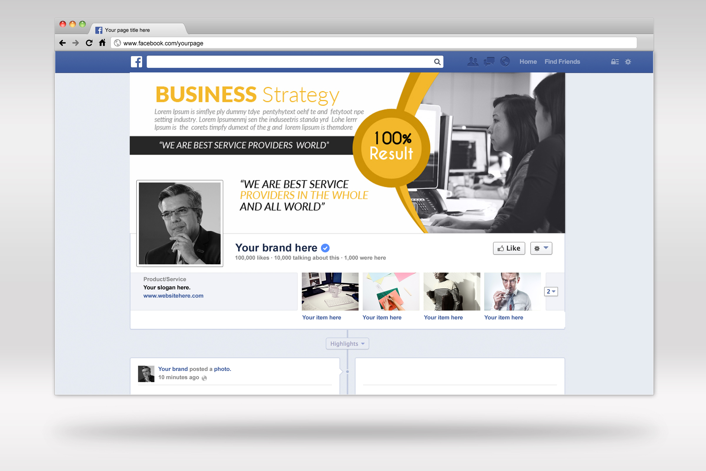 Business Facebook Timelines 07 example image 2