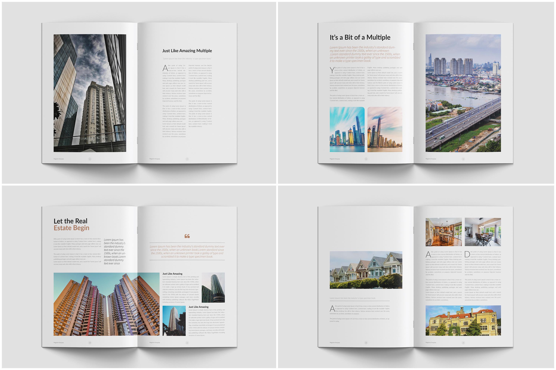 Real Estate Minimal Magazine Template example image 5