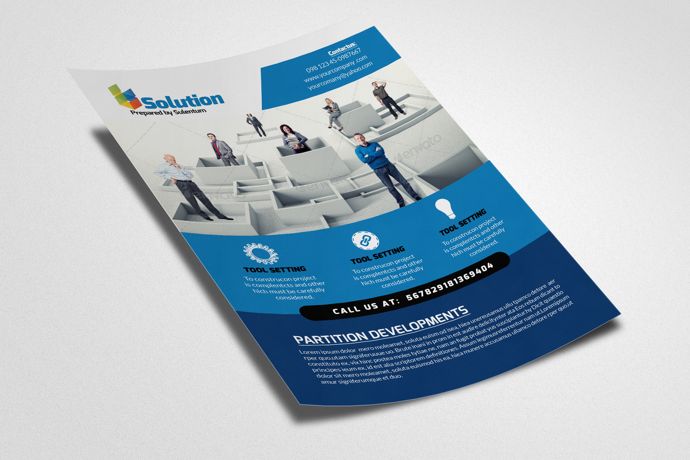 Business Problem Solution Flyers example image 2