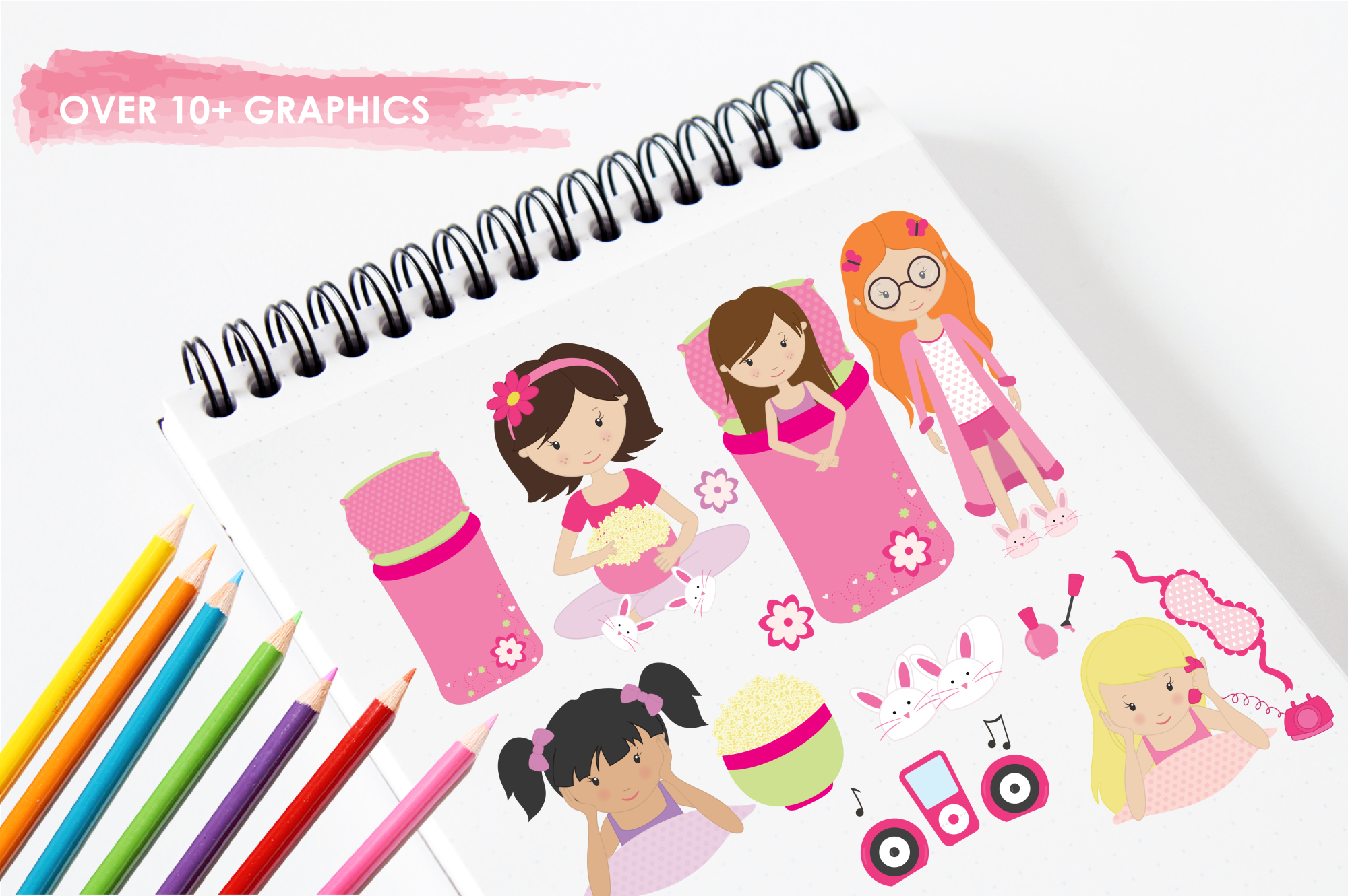 Girls Wanna Have Fun graphics and illustrations example image 3