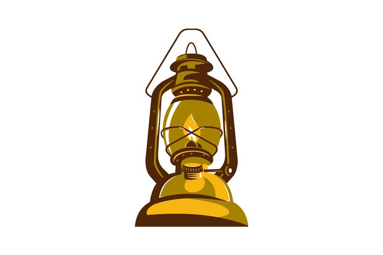 kerosene oil lamp retro example image 1