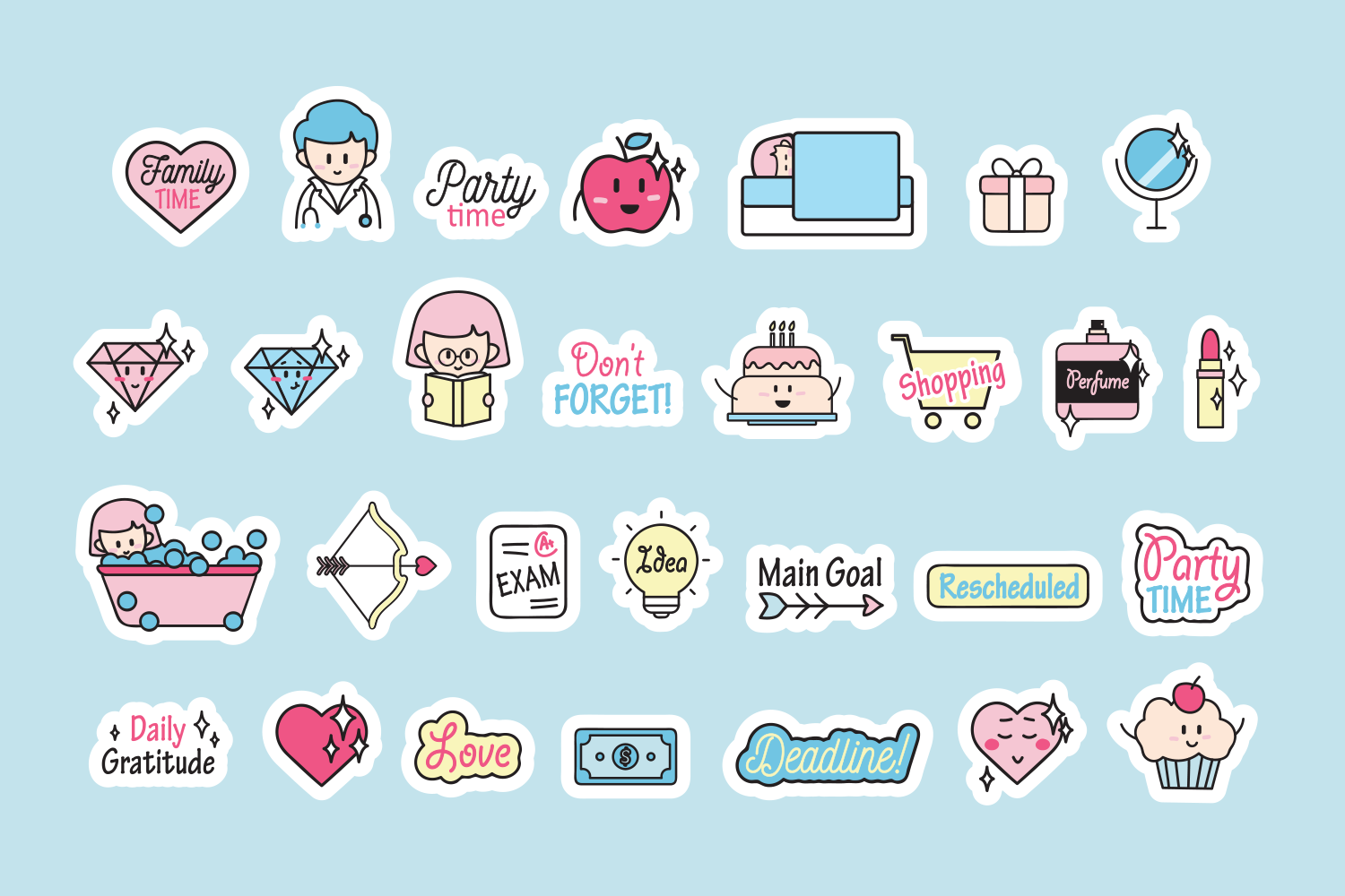 Cute Planner Stickers example image 2