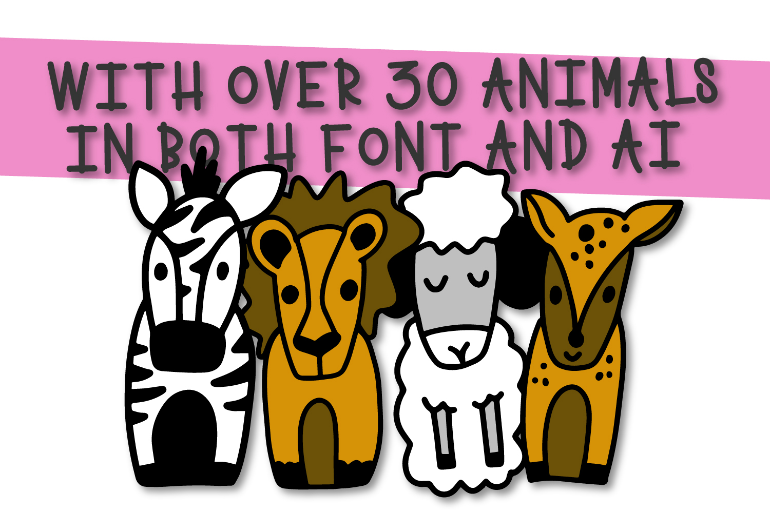 The Whole Zoo - Marker Font & Animal Dingbat Duo example image 3