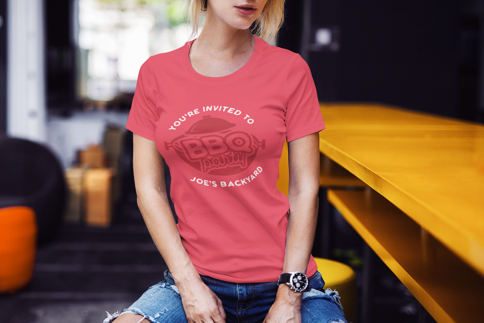 BBQ Party Logo Design TShirt. Retro Vector SVG Cut File example image 4