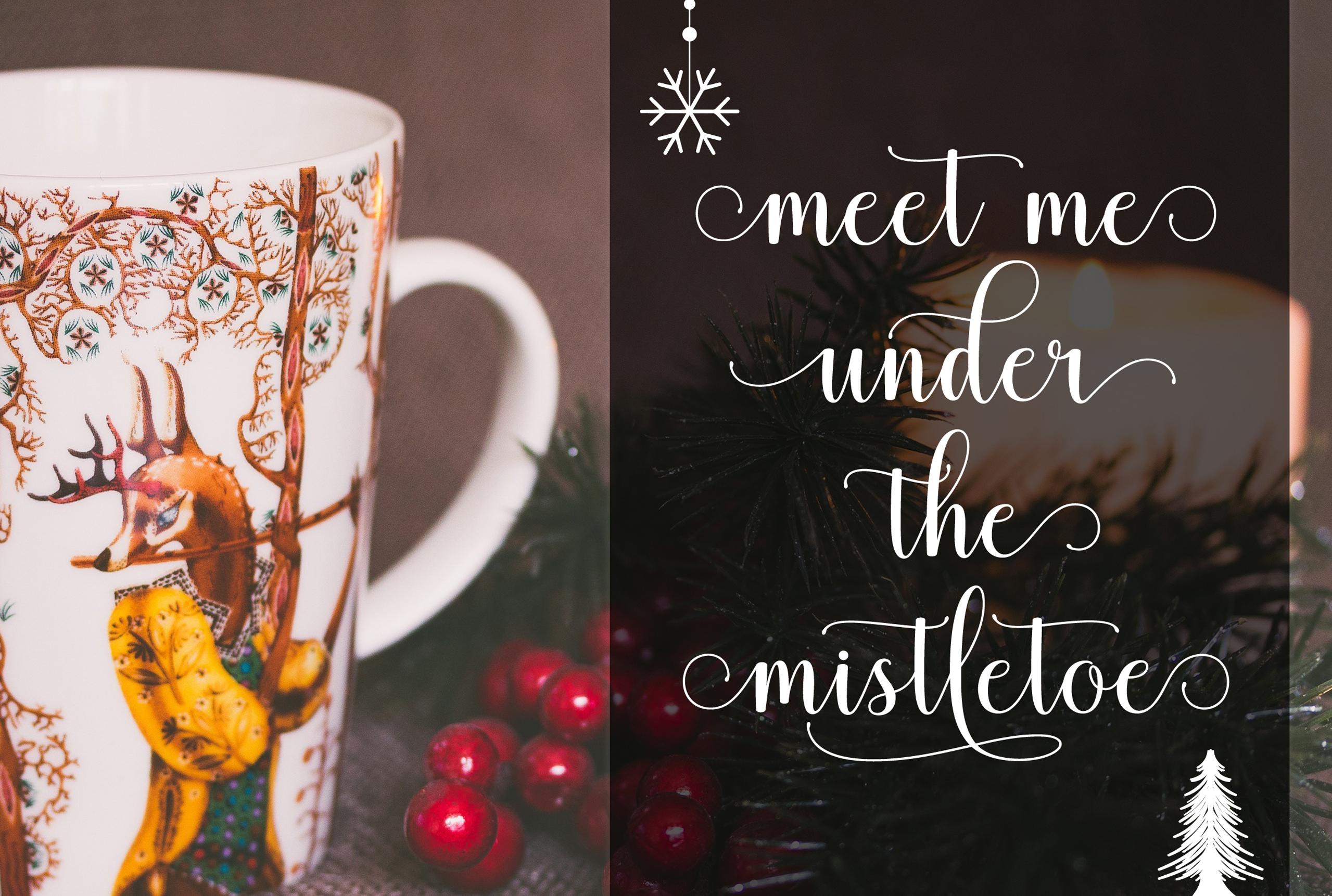 Mistletoe - Font Duo + Bonus example image 4