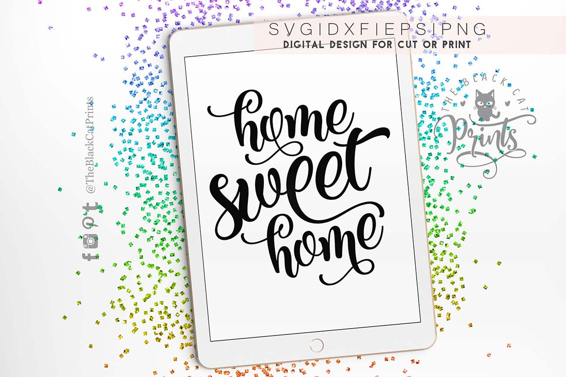 Home sweet home SVG PNG EPS DXF example image 2