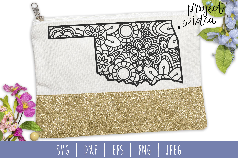State Mandala Zentangle Bundle Set of 50 - USA SVG example image 10