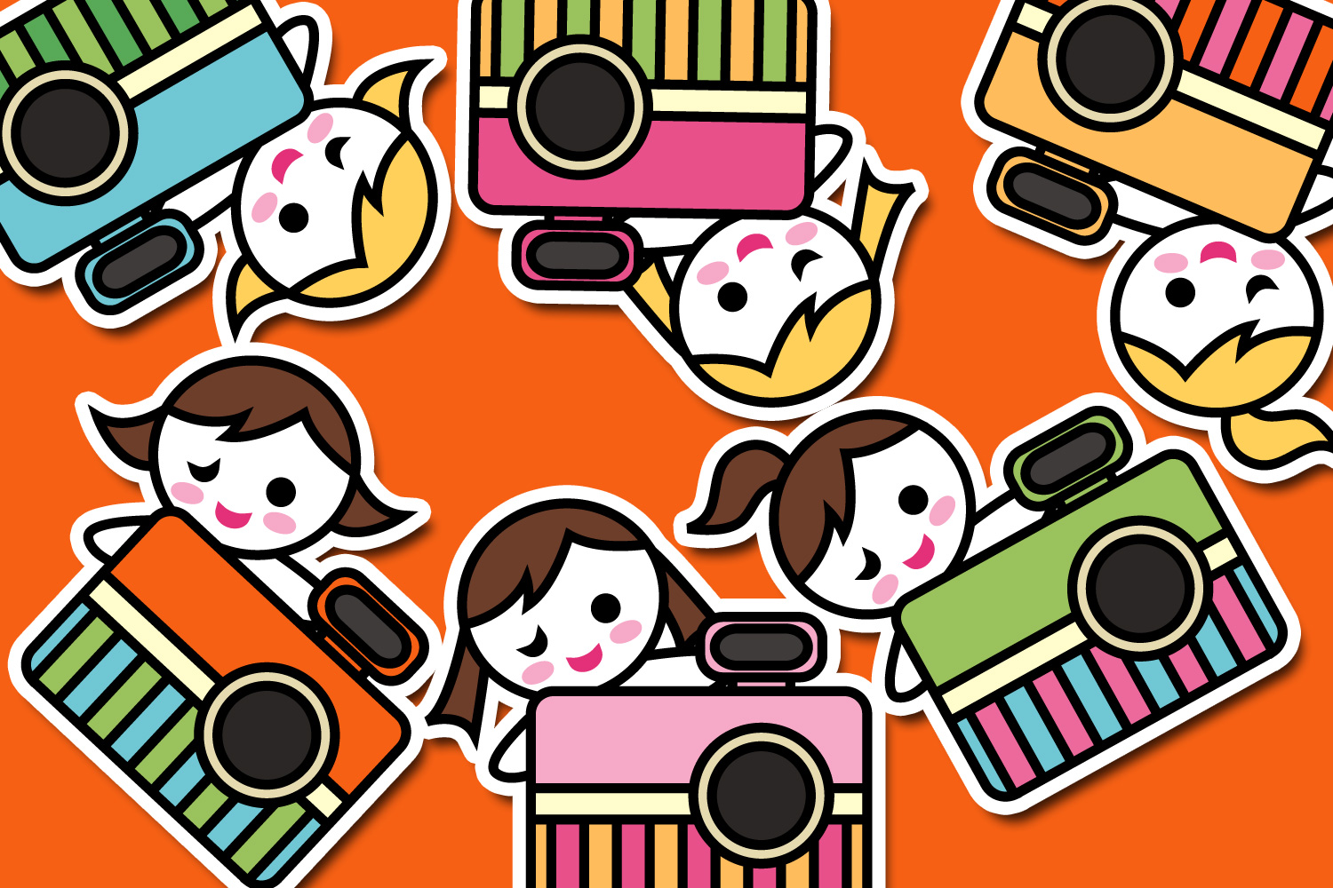 Hobby illustrations bundle - planner sticker graphics example image 14