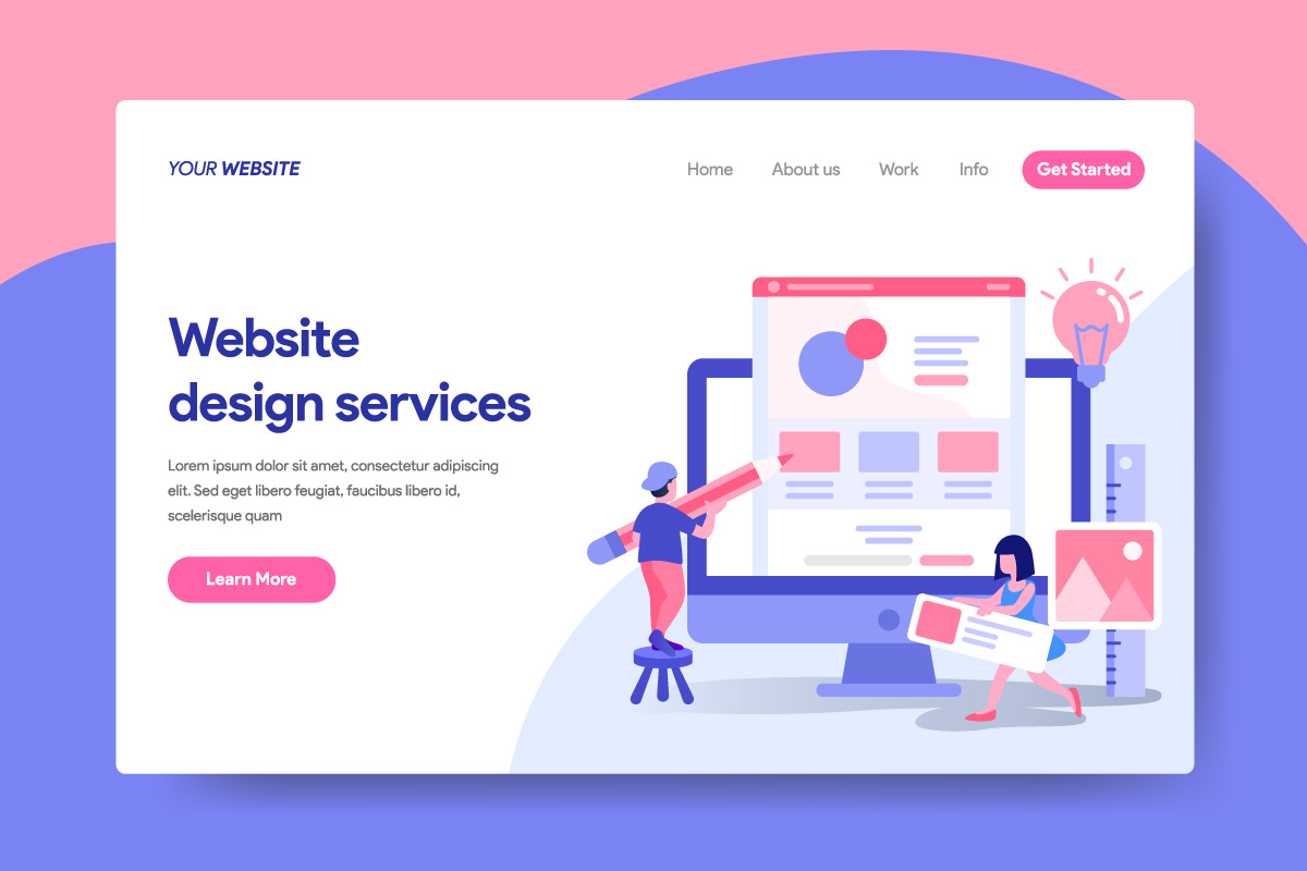 Landing page template of Website Design Services Concept example image 1