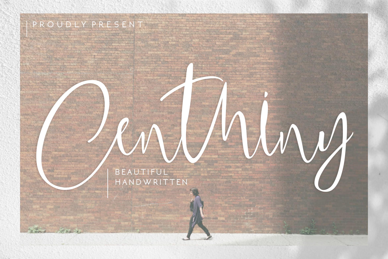 Centhiny - Beautiful Handwritten example image 1