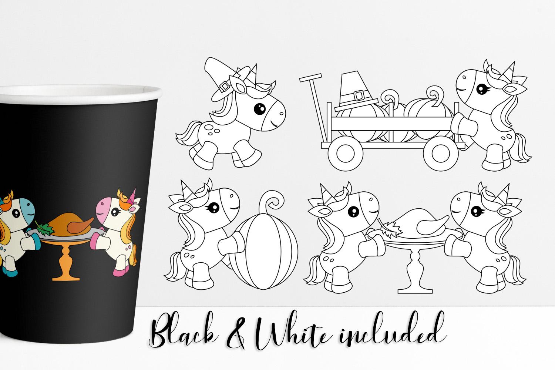 Thanksgiving Unicorn Illustrations example image 2