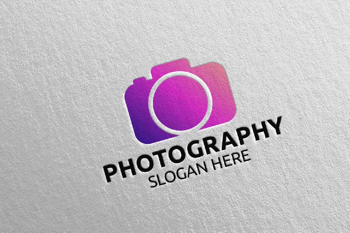 Abstract Camera Photography Logo 15 example image 1