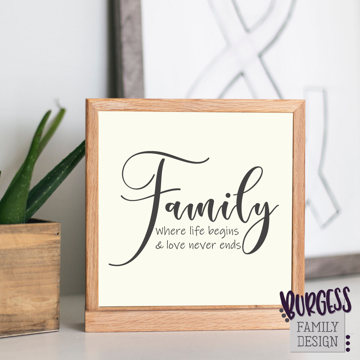 Family where life begins and love never ends|SVG DXF EPS PNG example image 3
