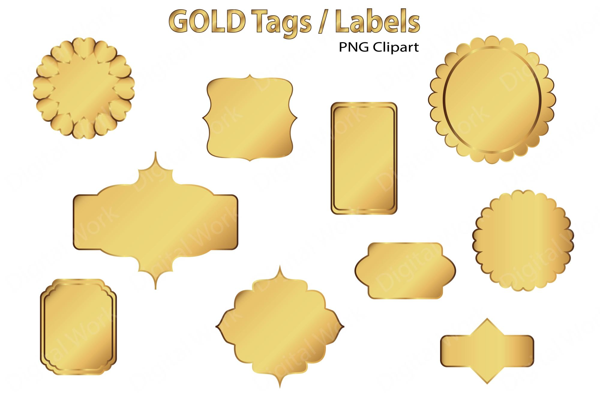 Gold Clip Art Tags and Labels example image 3