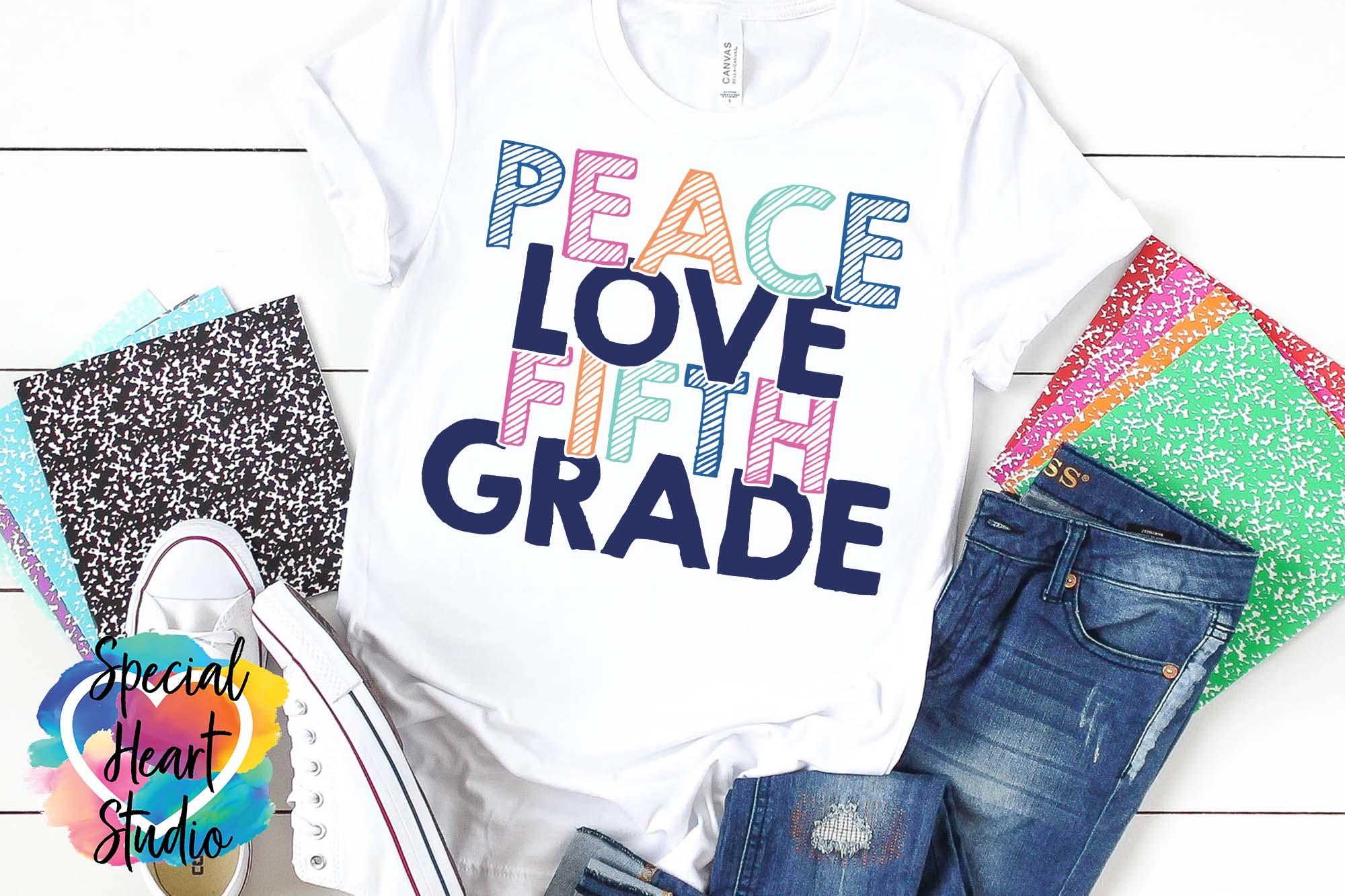 Peace Love Elementary - A School or Teacher SVG Bundle example image 7