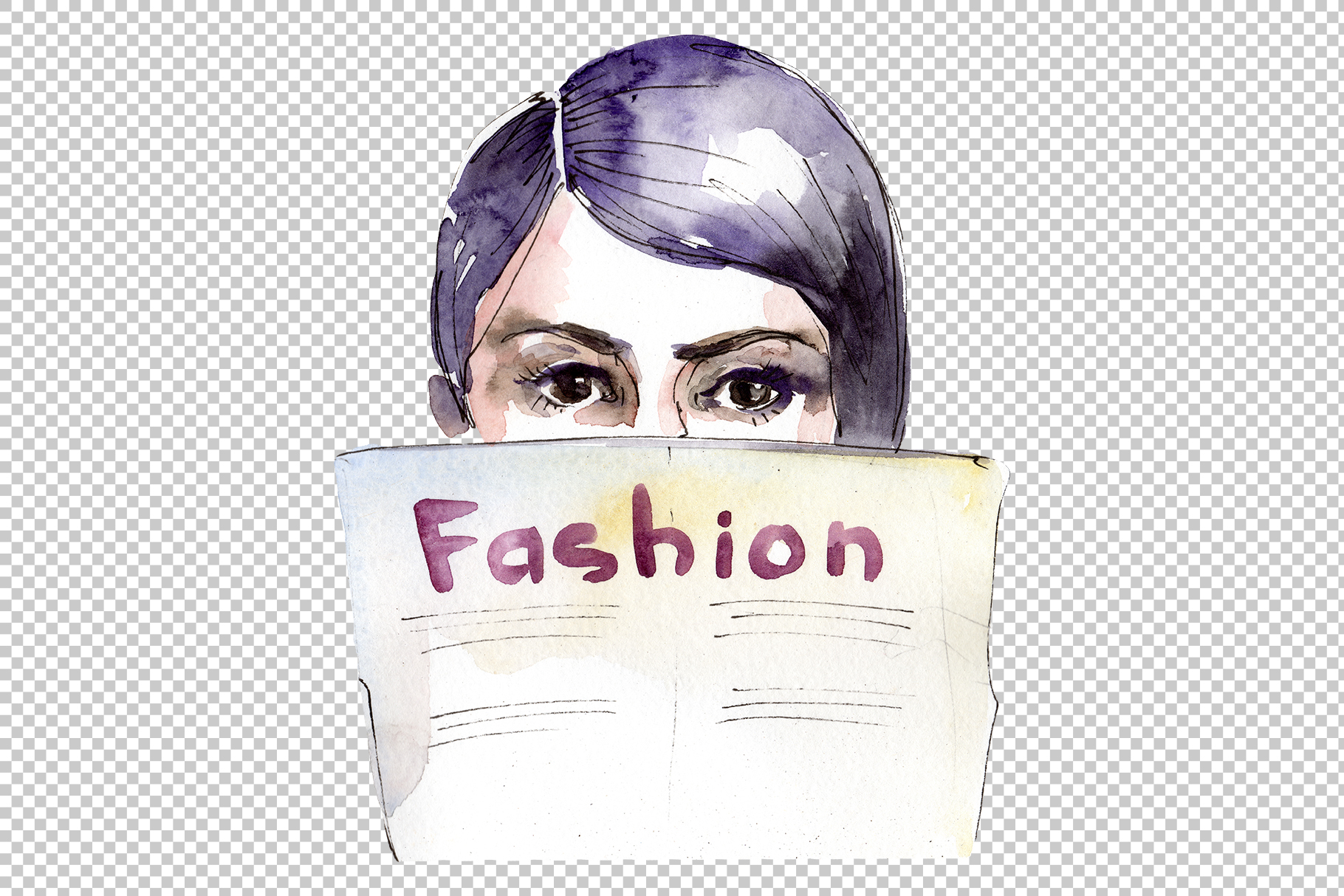 Fashion and style watercolor png example image 4