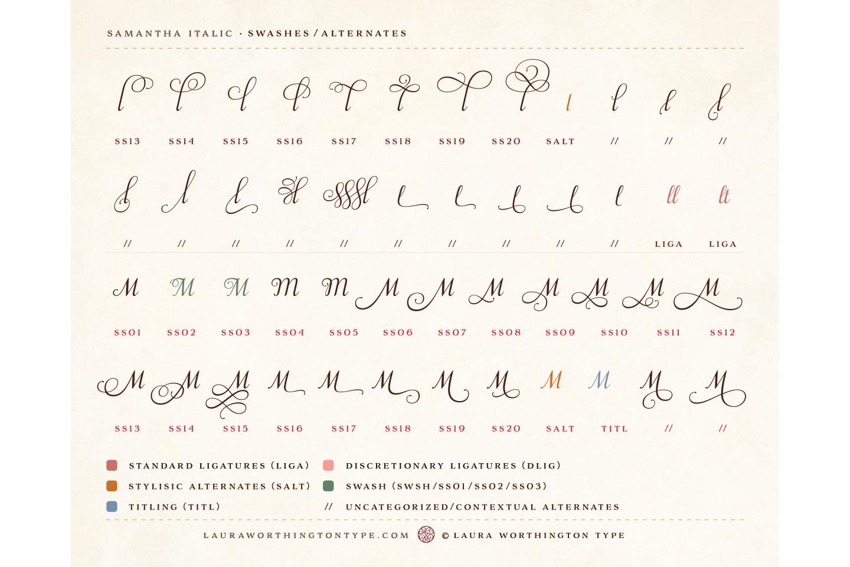 Samantha Script Italic example image 25