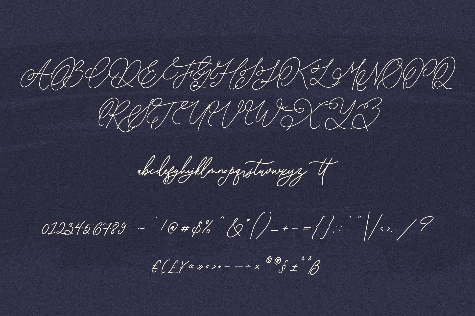 Asphalt Signature Font example image 10