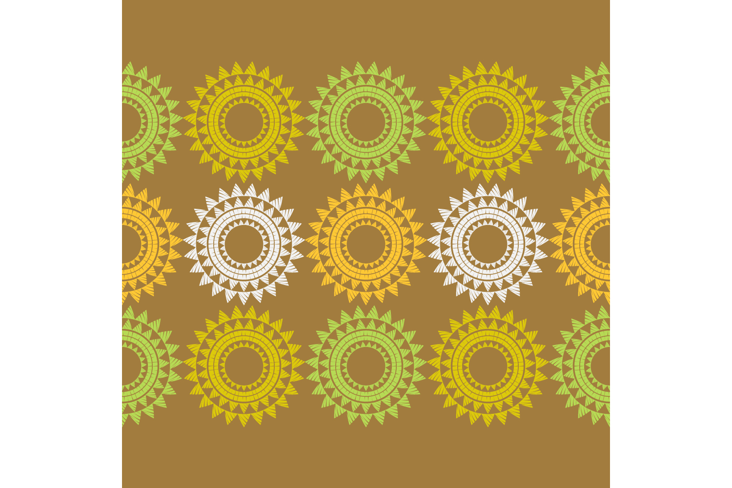Polka dot ethnic ornament. Set of 10 seamless patterns. example image 10
