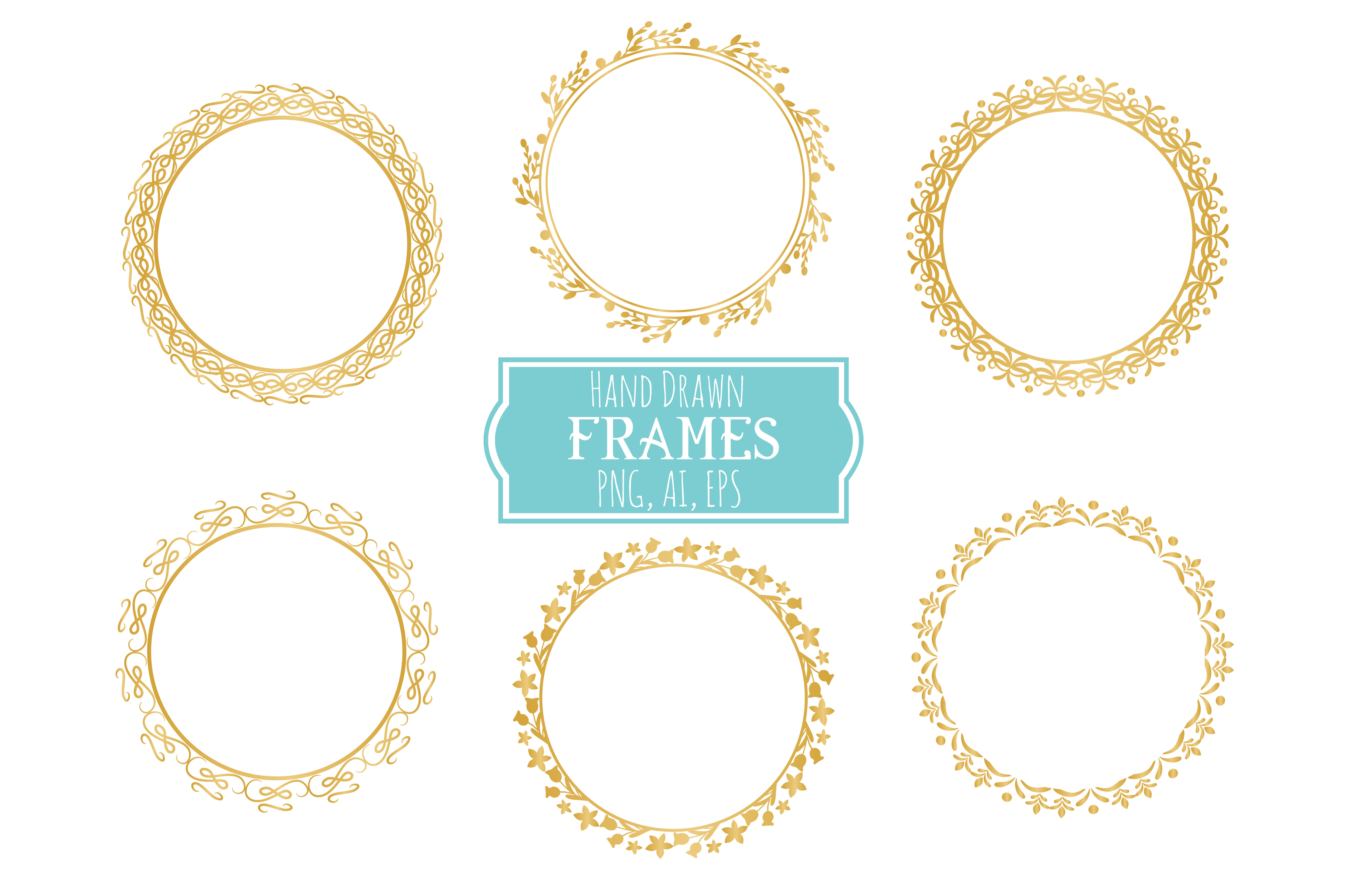 Hand Drawn Frames Vector + Png example image 2