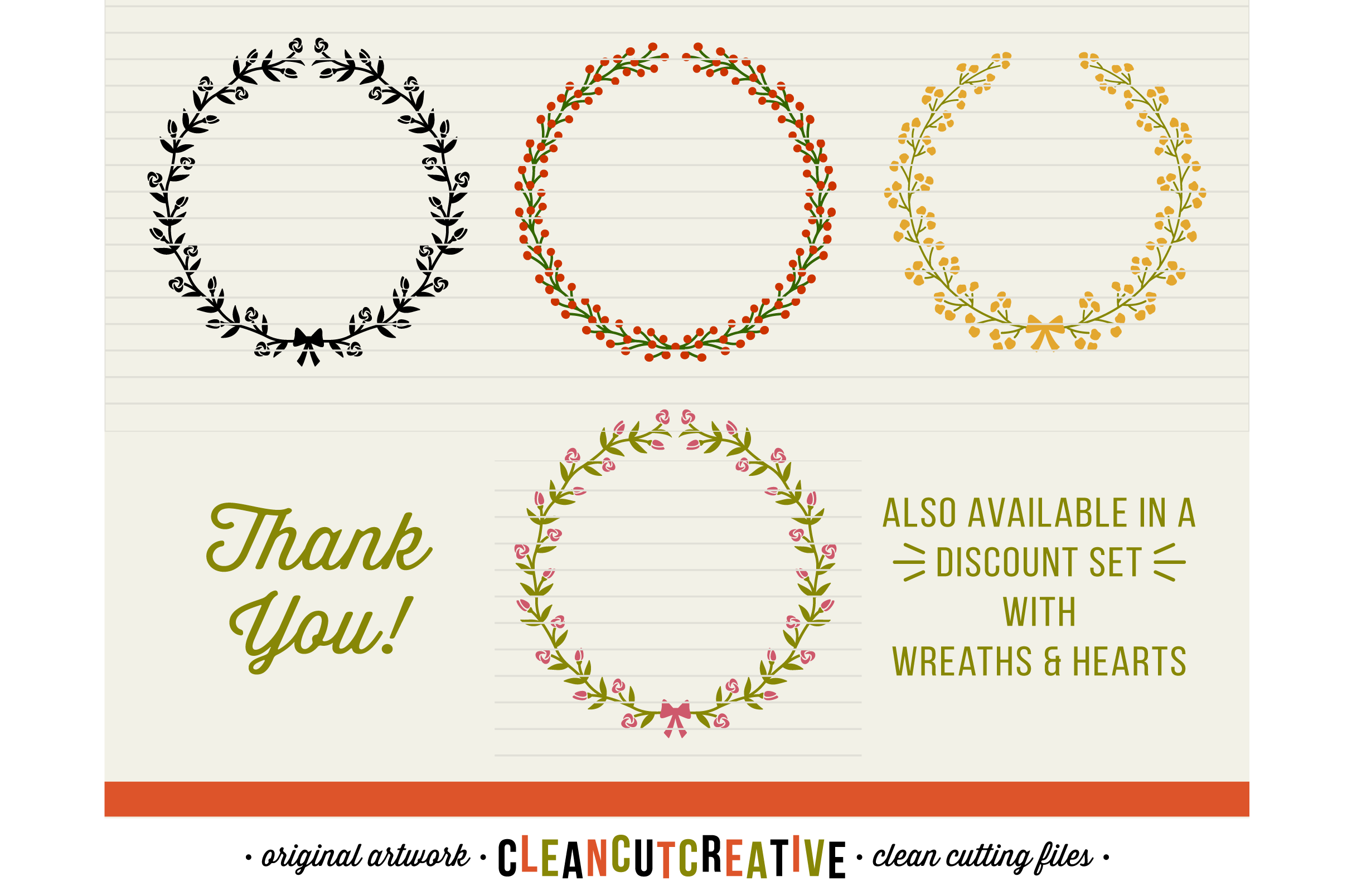 7 svg FLORAL LAURELS floral leaf circleframes - SVG DXF EPS PNG - for Cricut and Silhouette Cameo - clean cutting digital files example image 3