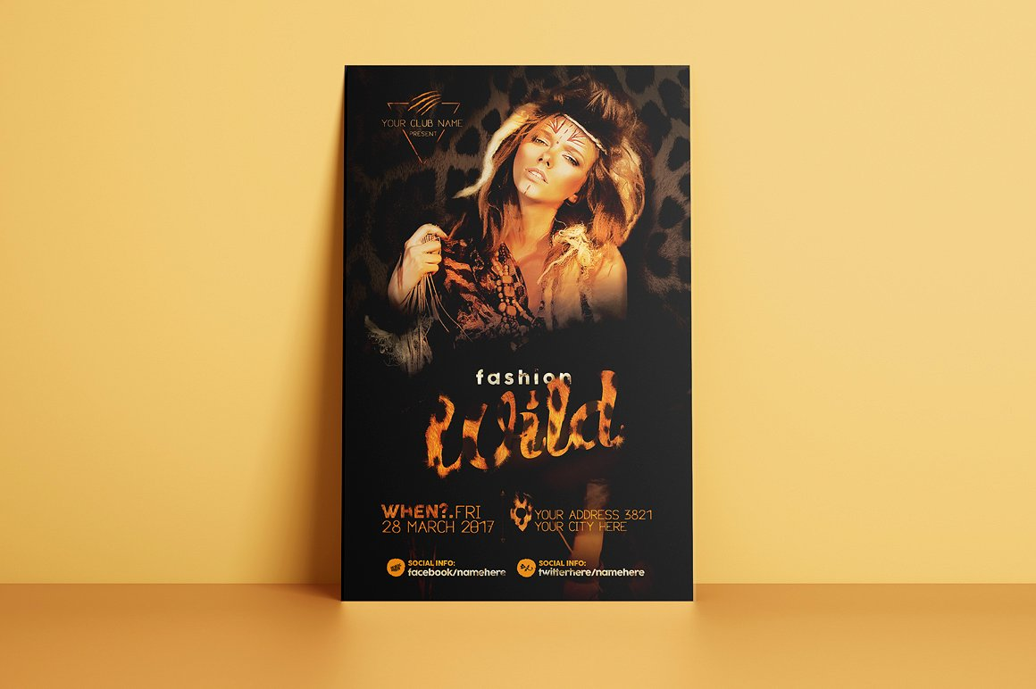 Fashion Wild Flyer Template example image 2