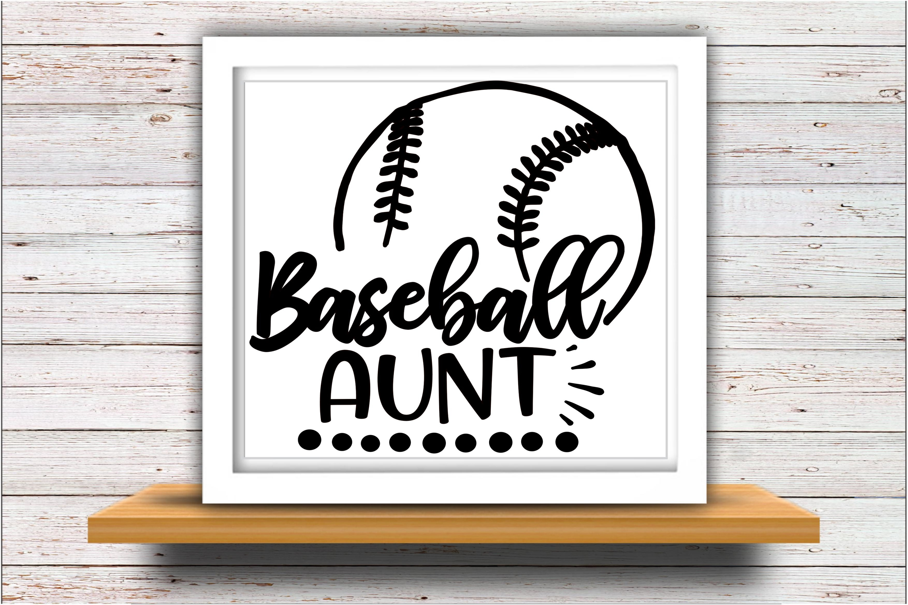 Baseball SVG DXF JPEG Silhouette Cameo Cricut aunt svg example image 2