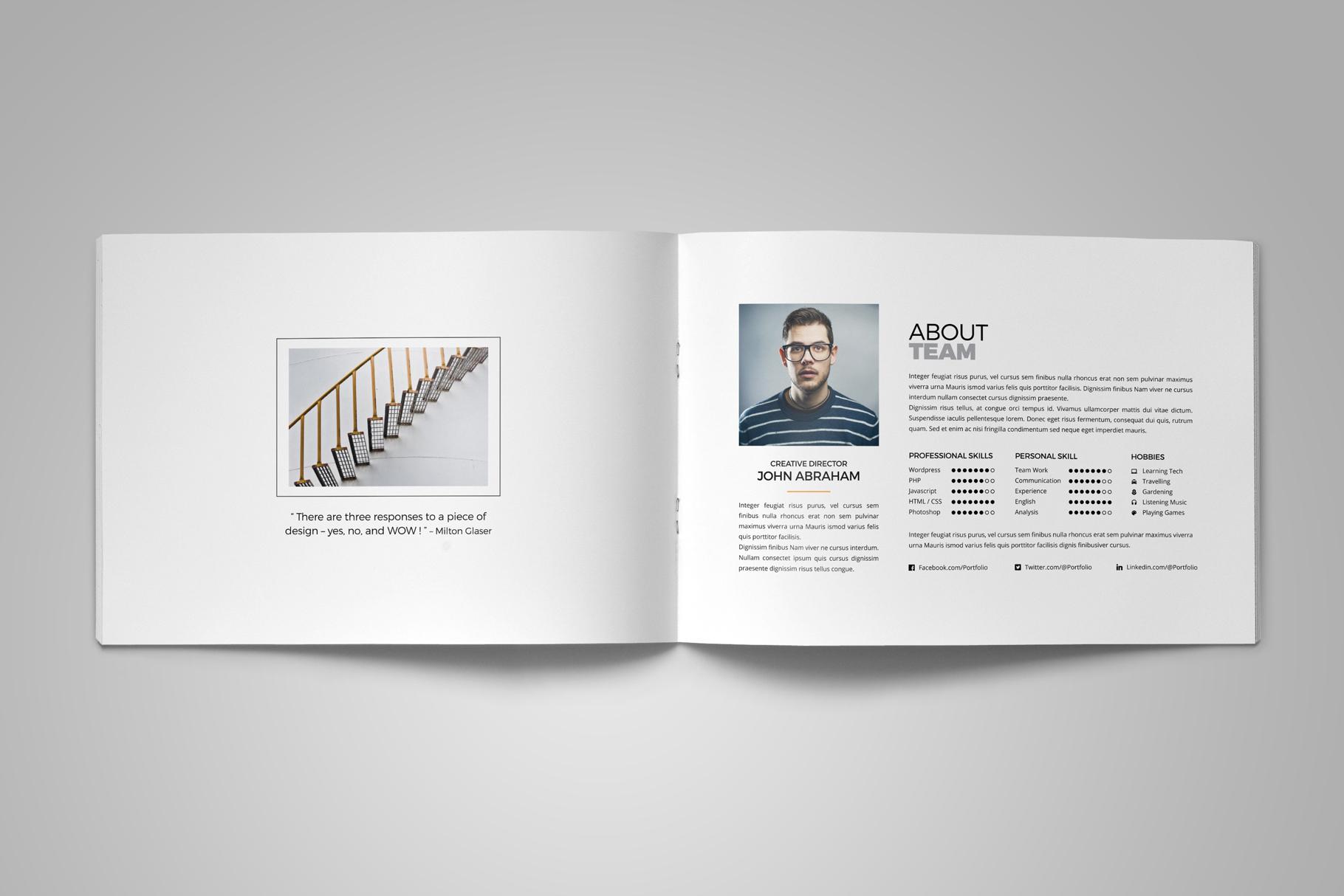 Portfolio Brochure Design v5 example image 3