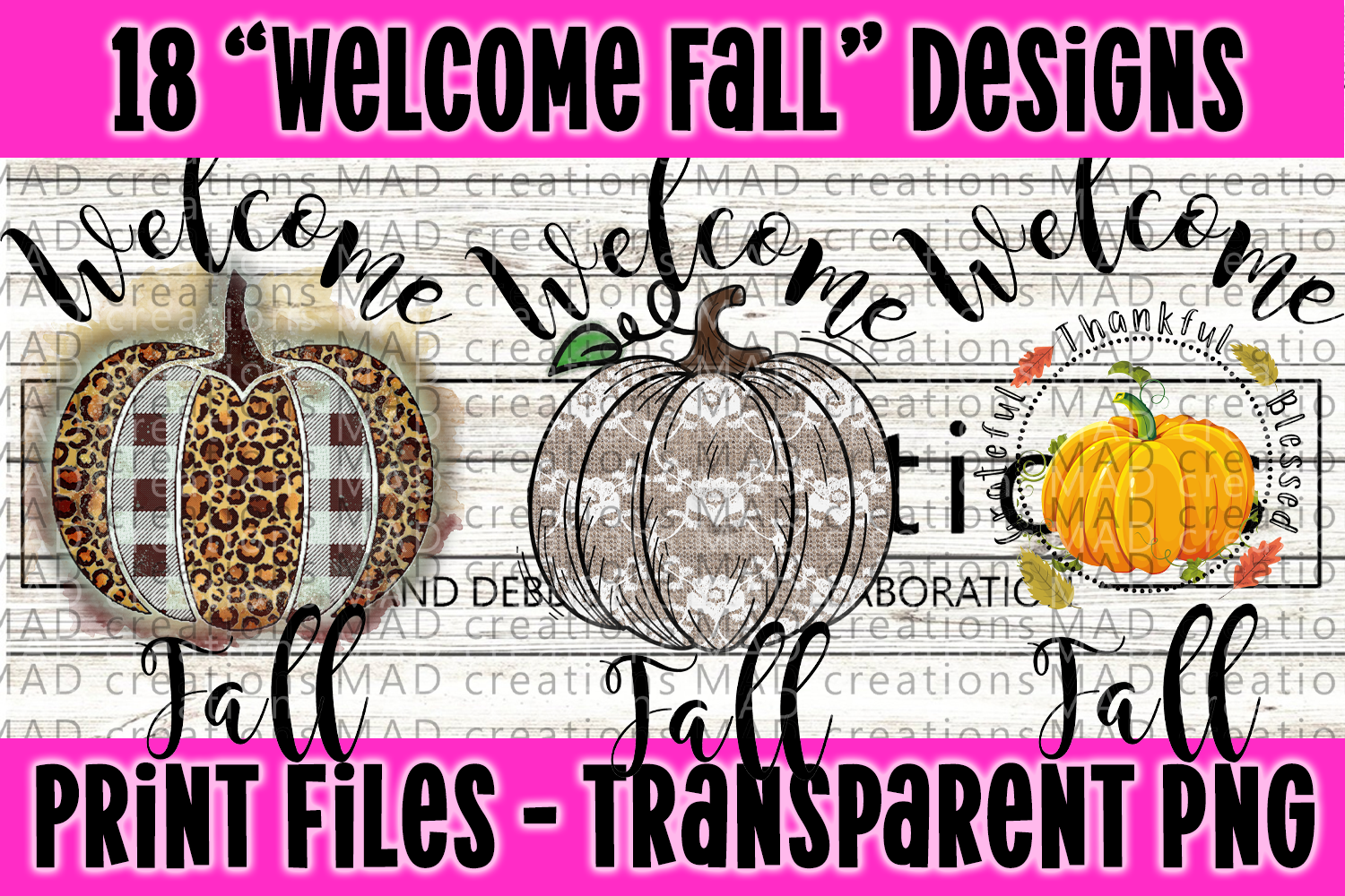 18 PNG Welcome Fall Bundle - Print File example image 3