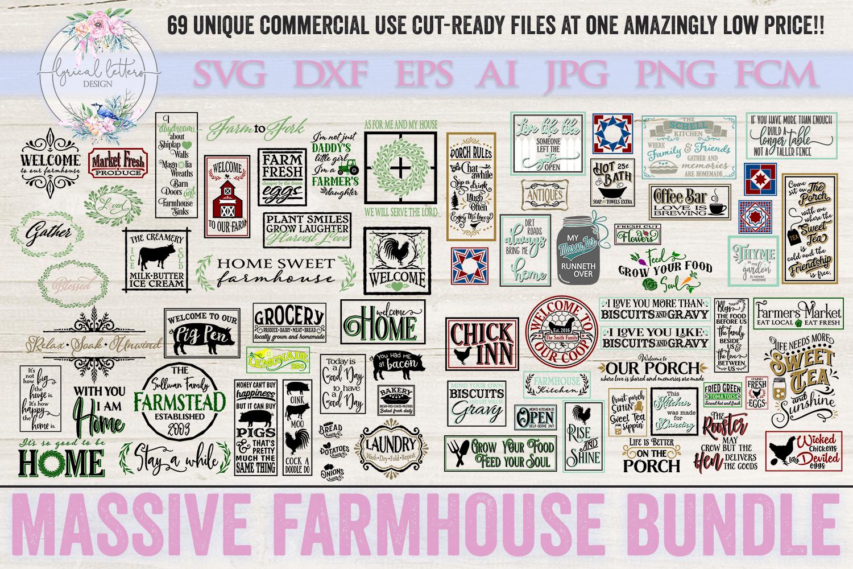 Farmhouse Bundle of 70 SVG DXF Cut Files example image 1