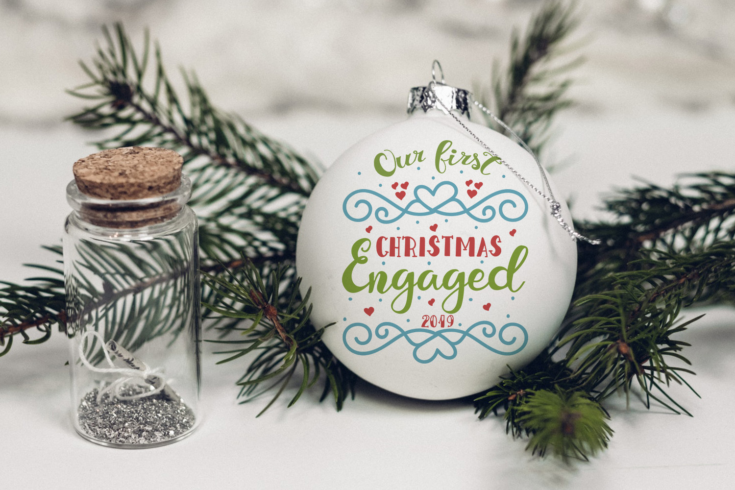 Our first Christmas engaged example image 3