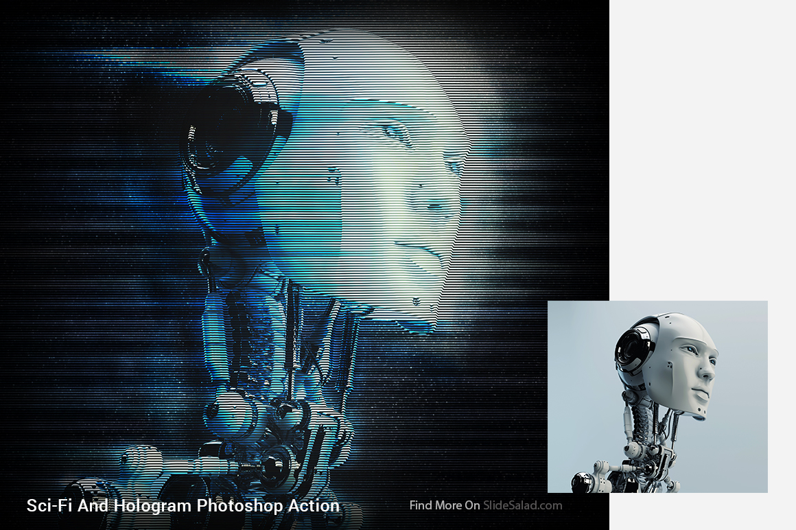 Sci-Fi And Hologram Photoshop Action example image 11