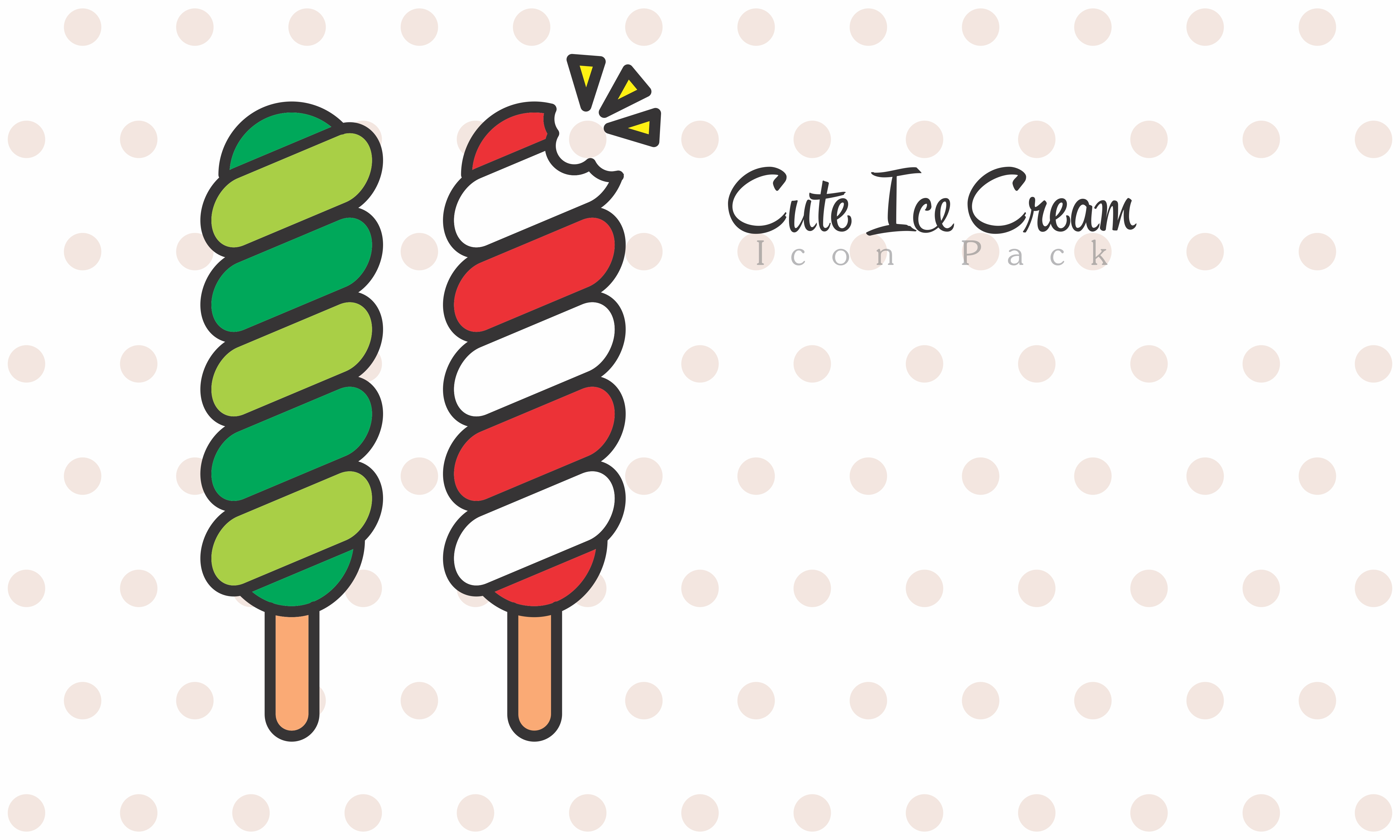 Cute Ice Cream Icon Pack example image 1
