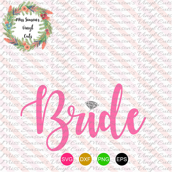 Bride SVG Engagement SVG, DXF, Eps, Png Wedding example image 1
