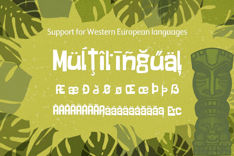 Freaky Tiki - a fun tropical font example image 5