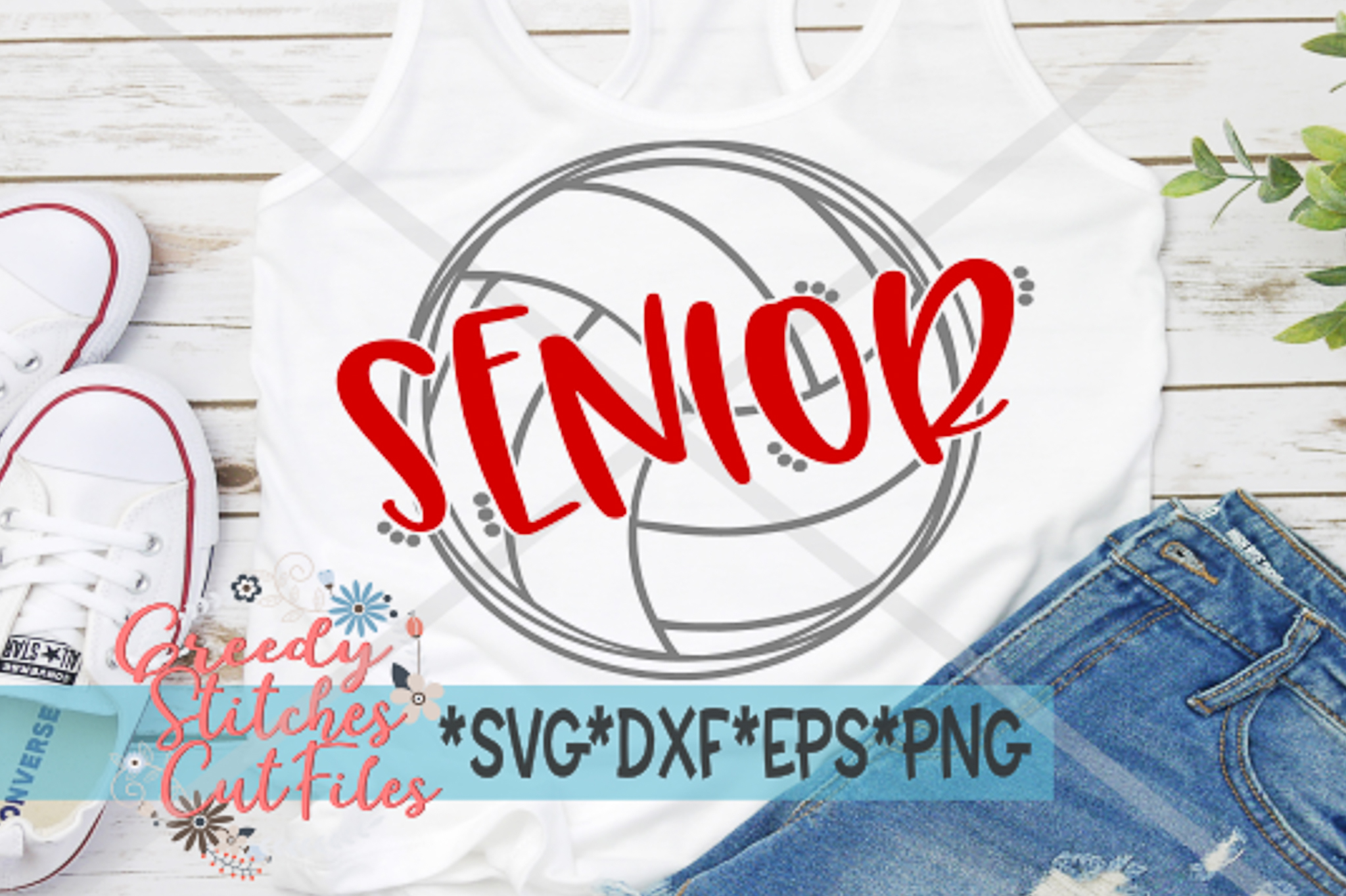Senior Volleyball SVG, DXF, EPS, PNG Files example image 1