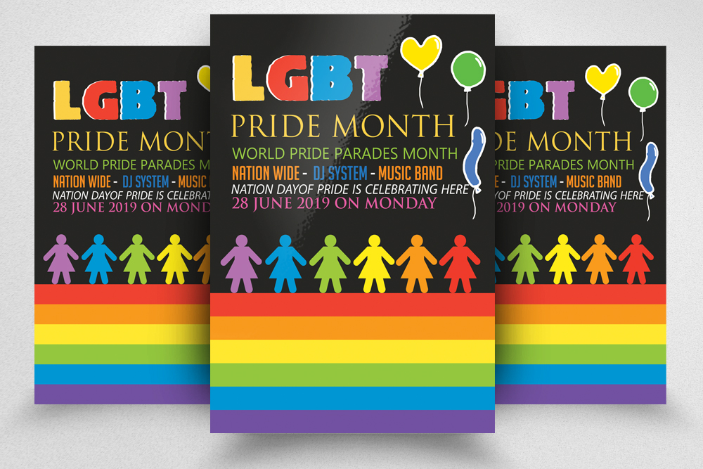 LGBT Pride Party Flyer example image 1