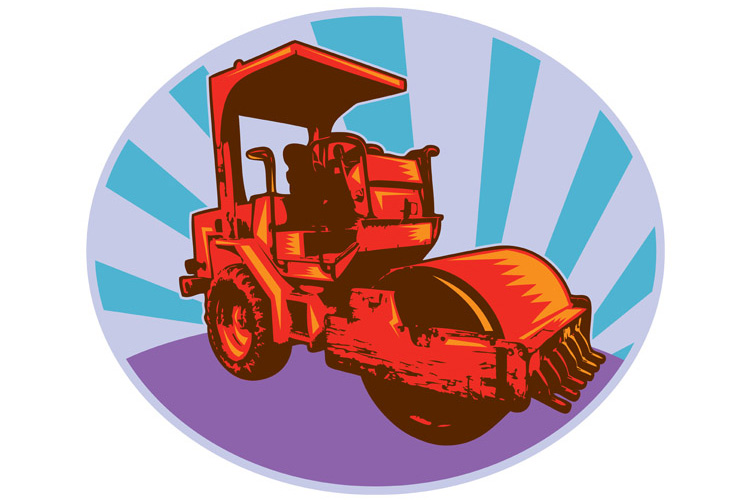 road roller construction equipment example image 1