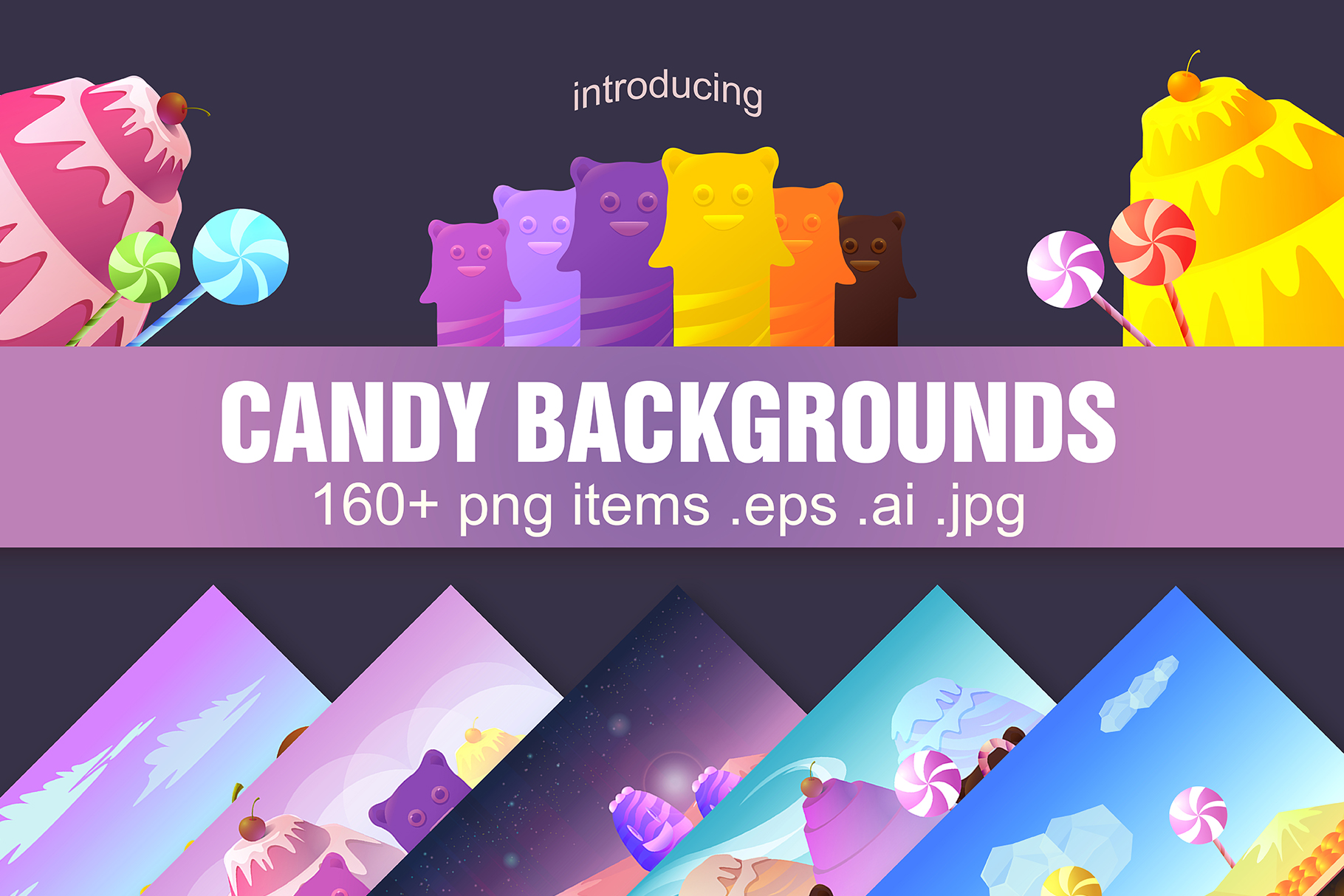 Candy Backgrounds example image 1
