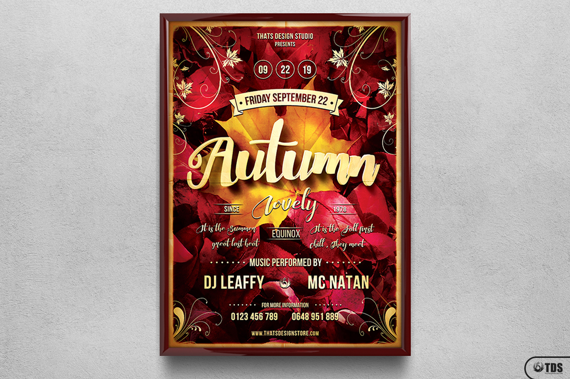 Autumn Equinox Flyer Template V1 example image 1