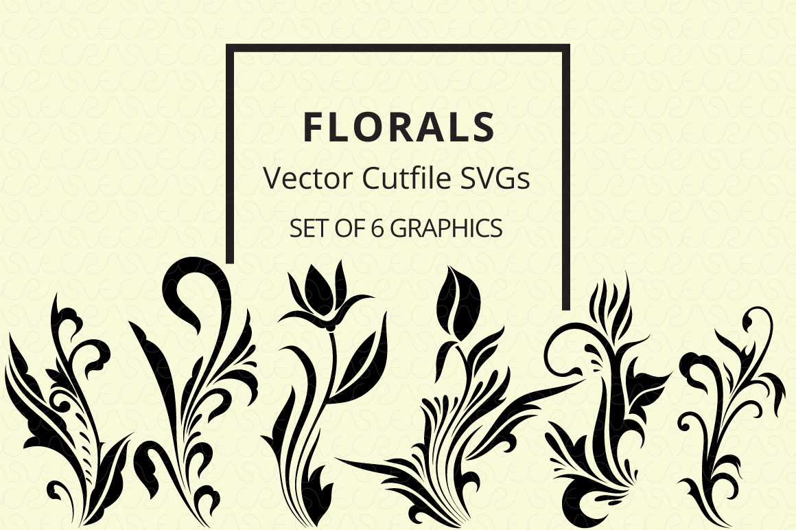 SVG Florals Cutfiles Bundle Pack of 270 vector graphic shape example image 3