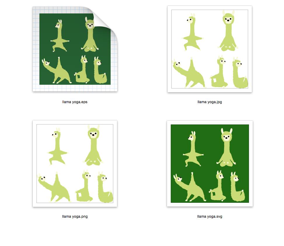 Llama Yoga 5 designs - SVG-EPS-JPG-PNG example image 2