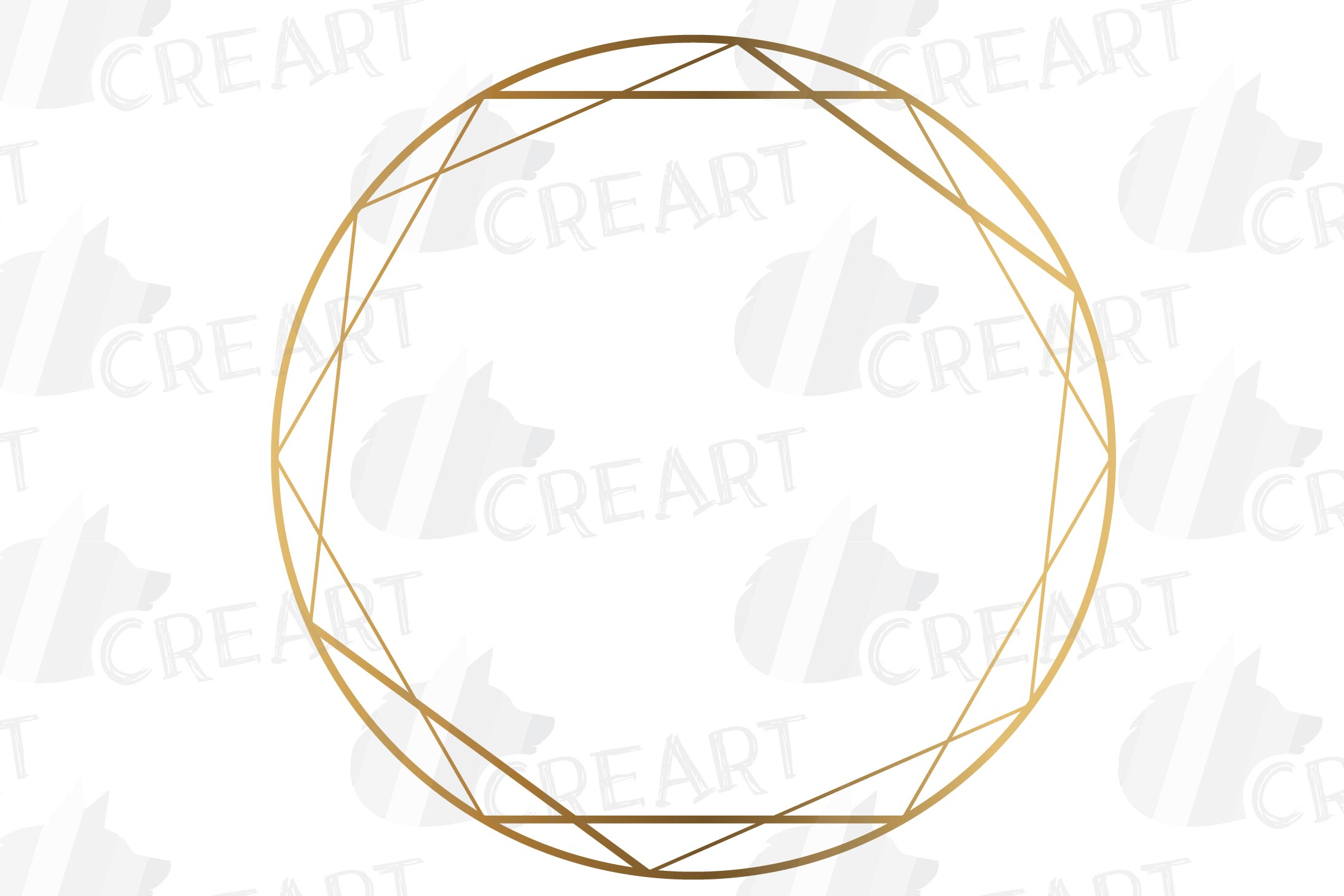 Elegant wedding geometric golden frames, lineal frames svg example image 17