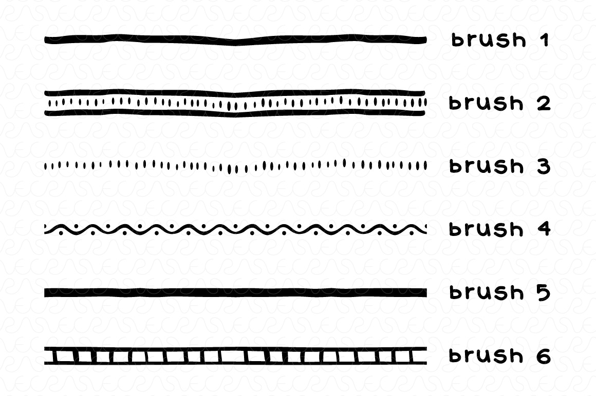 Vector Brushes - Handmade Tribal Style Graphics example image 2