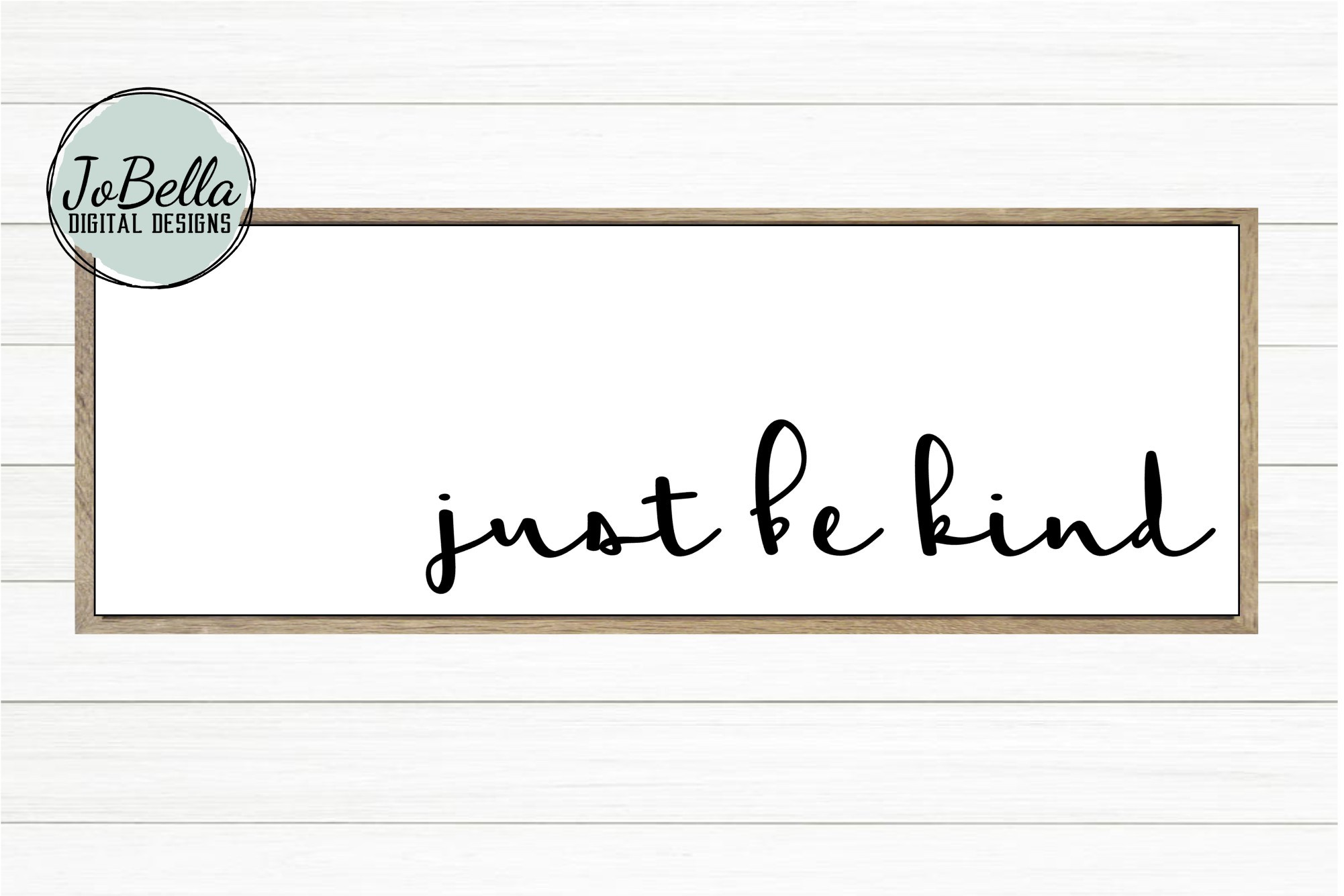 Just Be Kind SVG, Sublimation PNG and Printable example image 2