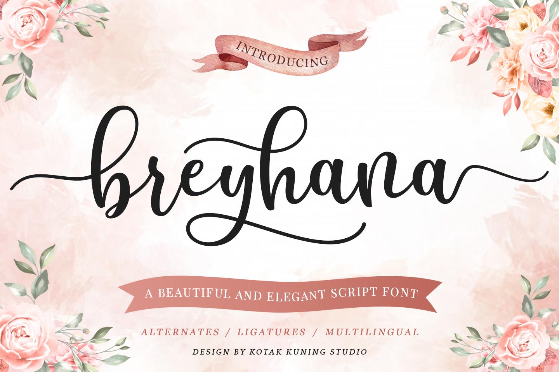 Breyhana Script example image 1