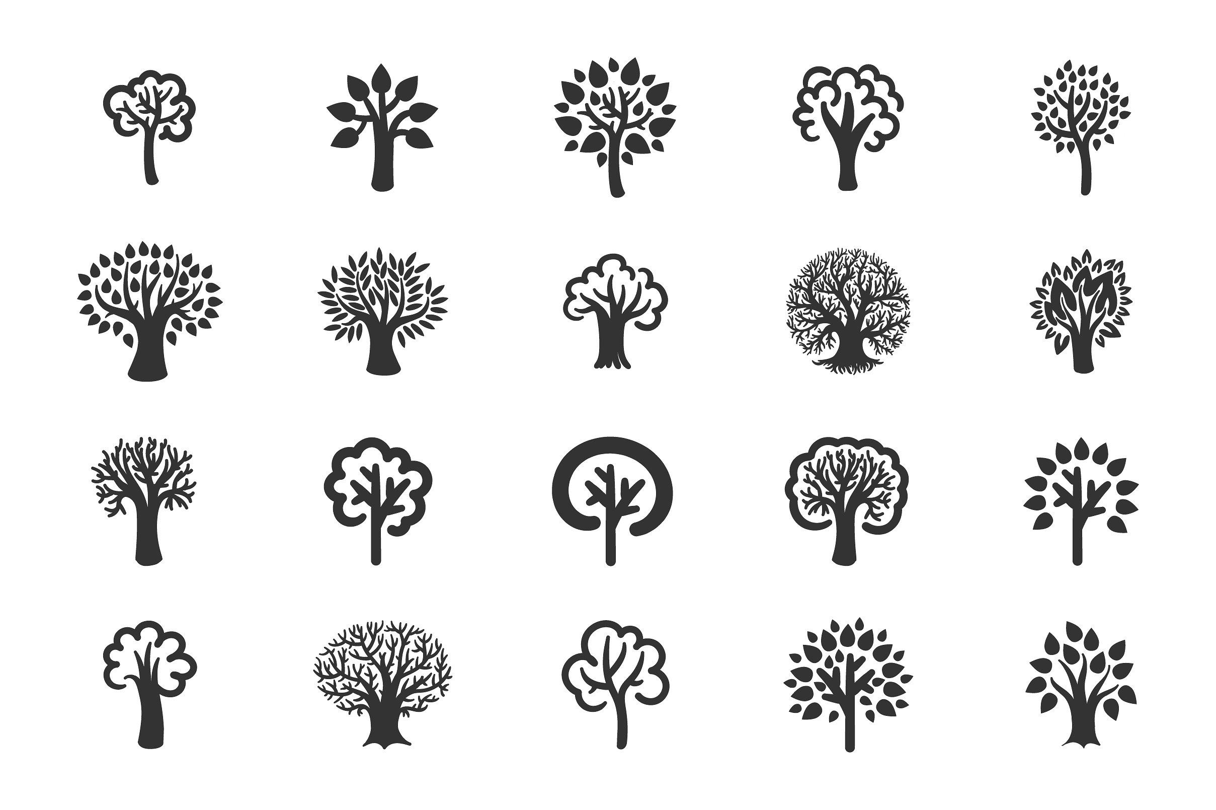 Tree icon set example image 2