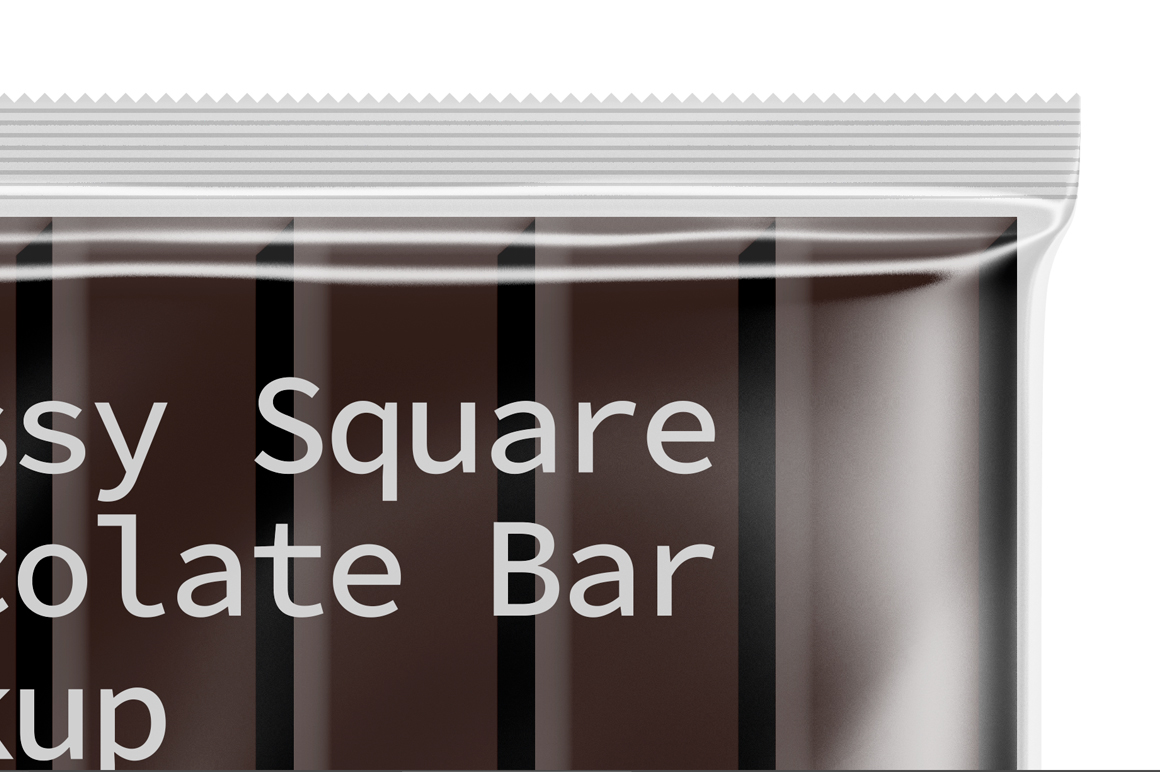 Transparent Square Chocolate Bar Mockup example image 5